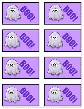 BOO! Halloween Phonics Game Activity CCVC, CVC and CVCe Pairs