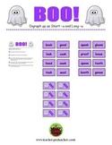 BOO! Halloween Phonics Game Activity Digraph oo as Short -u and Long -u