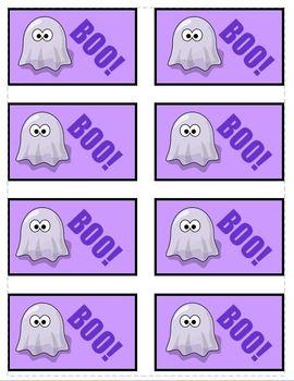BOO! Halloween Phonics Game Activity Long e as -e, -y