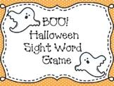 BOO! Halloween Sight Word Game