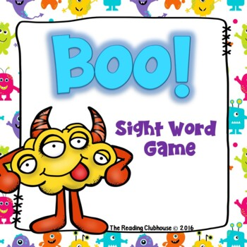 BOO! - Monster Word Card Game - Phonics Dance