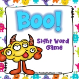 Common Sight Word Game - BOO!