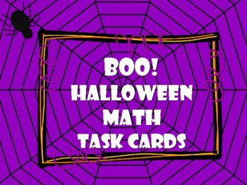 NEW  BoO! Halloween Math Task Cards for Gr. K-1