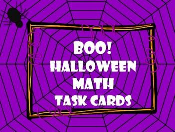 NEW  BoO! Halloween Math Task Cards for Gr. K-1