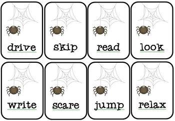 BOO - Nouns, Verbs, and Pronouns Game