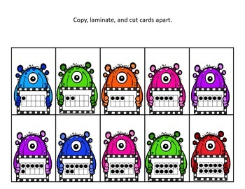 BOO!  Number Identification Card Game