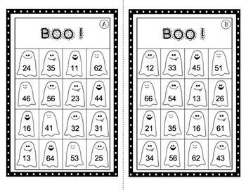 BOO!  Place Value Bingo