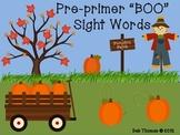 """BOO"" Pre-Primer Sight Word Game"