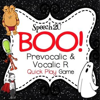 BOO!  Quick Play Vocalic/Prevocalic R game