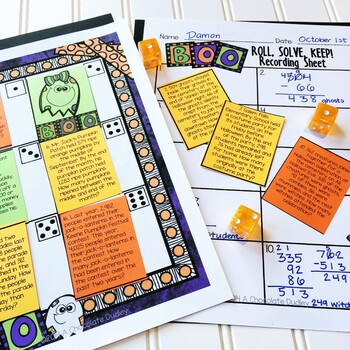 Halloween Math Game (Addition and Subtraction)