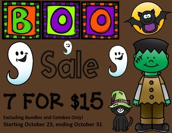 BOO SALE:  7 FOR $15 (everything except for bundles)