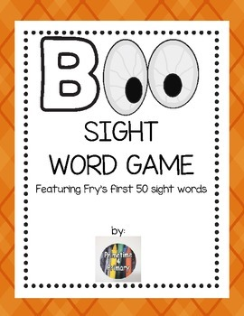 BOO! Sight Word Game with Fry's first 50 words