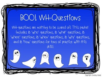 BOO! WH-Questions
