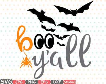 BOO Y'all Halloween Fall Thankgiving clipart svg Yall studio3 tshirt shirt -695s