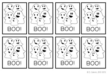 Sight Word Game - BOO! for Sight Words