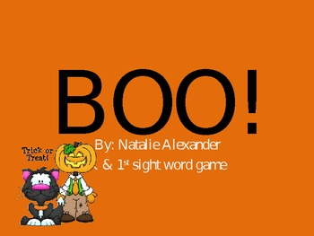 BOO!-sight word practice