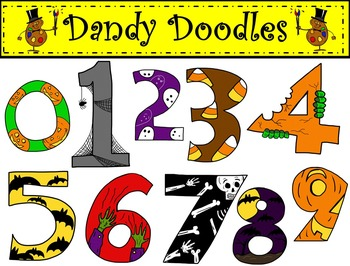 BOO-tiful Numbers Clip Art by Dandy Doodles