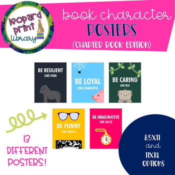 BOOK CHARACTER POSTERS (CHAPTER BOOK VERSION)
