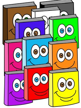 BOOK CLIPART * COLOR AND BLACK AND WHITE