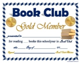 (8) BOOK CLUB Award Certificates!  Variety Pack!  Middle & High School Age Kids!