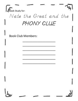 BOOK CLUB: Nate the Great and the Phony Clue