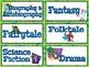 BOOK GENRE Labels - English & Spanish