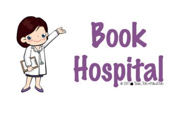 BOOK HOSPITAL Bucket Sign