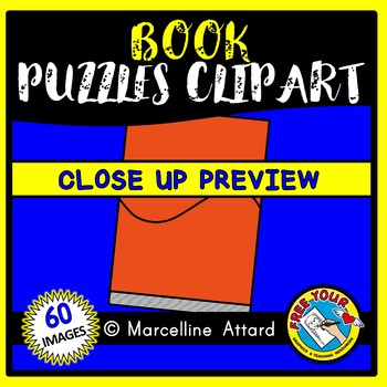 BOOK PUZZLES CLIP ART: SELF-CORRECTING PUZZLE TEMPLATES: BACK TO SCHOOL
