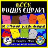 BOOK PUZZLES CLIP ART: SELF-CORRECTING PUZZLE TEMPLATES: B