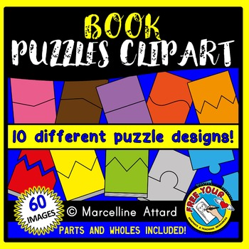 BOOK PUZZLES CLIP ART: SELF-CORRECTING PUZZLE TEMPLATES: B