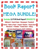 BOOK REPORT 12 Projects MEGA BUNDLE Board Game-Newspaper-F