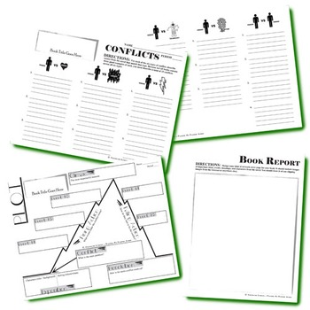 BOOK REPORT - Blank Organizers for Any Student-Guided Book Report