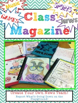 report class magazine fun culminating or end of the year