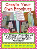 BOOK REPORT- Create a Brochure - Fun Artistic Creative Cha