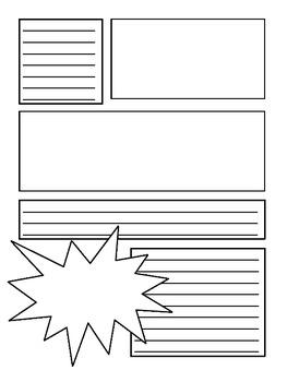 BOOK REPORT- Create a COMIC BOOK - Fun Artistic Creative Challenging