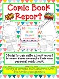 BOOK REPORT- Create a COMIC BOOK - Fun Artistic Creative C