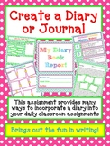 BOOK REPORT- Create a DIARY or JOURNAL - Fun Artistic Creative Challenging