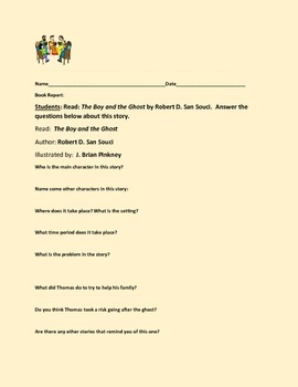 BOOK REPORT FORM: THE BOY AND THE GHOST