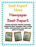 BOOK REPORT- Newspaper Report Fun Easy Directions Artistic Creative Challenging