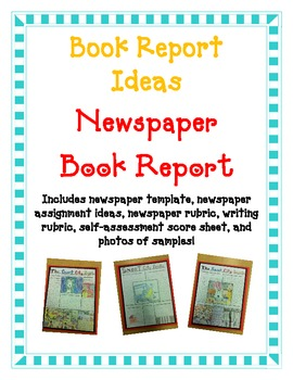 book report newspaper report fun easy directions artistic creative