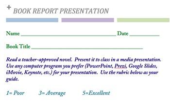 BOOK REPORT PRESENTATION  (Doc)