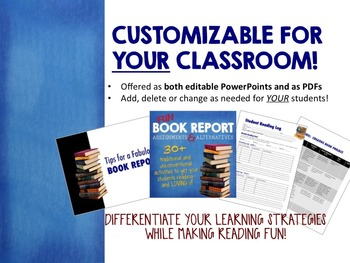 Book Report Projects & Alternatives: 30+ Creative Activities, PPT for ANY Book!