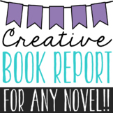 BLANK GENERIC BOOK REPORT PROJECTS for ANY Novel, Creative Activity
