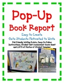 BOOK REPORT- Pop-Up Book - Fun Easy Directions Artistic Creative Challenging