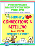 JANUARY CONNECTIONS - RETELLING Book Share Templates