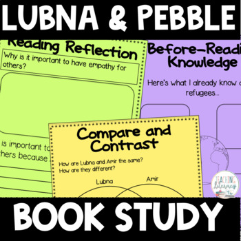 BOOK STUDY - Lubna and Pebble - 43 Differentiated Printables/Activities-NO PREP!