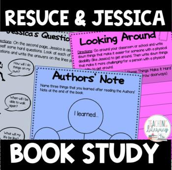 BOOK STUDY - Rescue & Jessica - 55 Activities/Printables! NO PREP! {CCSS}