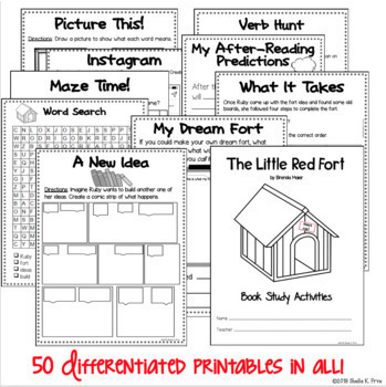 BOOK STUDY- The Little Red Fort-50 Differentiated Activities/Printables! NO PREP