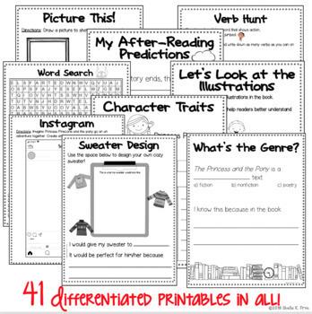 BOOK STUDY - The Princess and the Pony - 41 Activities/Printables! NO PREP!