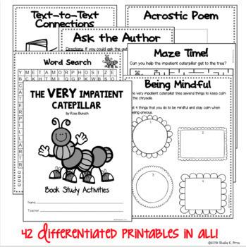 The Very Impatient Caterpillar Differentiated Book Study Activities